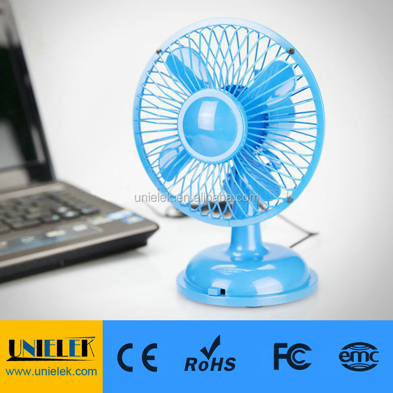 5-blades mini usb fan for PC/Laptop usb driver led fan for students