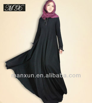 ab4c799fe3e7 Black Muslim hijab fashion scarf malaysia arab hijab Muslim long dress abaya