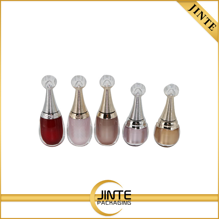 2017 China Plastic packaging factory for nail care product 10ml 15ml nail Polish Bottle