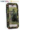 Military Camouflage Hybrid aluminum bumper silicone phone case for iphone 7/6