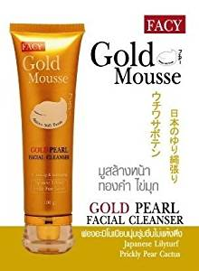 Beauty Set : 2 Units of Facy : Gold Mousse Gold Pearl Facial Cleanser Whitening & Exfoliating 80g Best Seller of Thailand [Free Facial Hair Epicare Spring A1Remover]