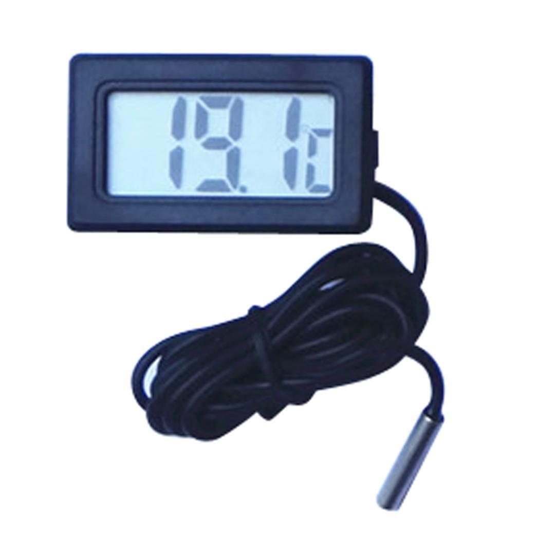 Dressffe Mini Thermometer Hygrometer Temperature Humidity Meter 3M Thermometer Hygrometer Temperature Humidity Meter Digital LCD Display