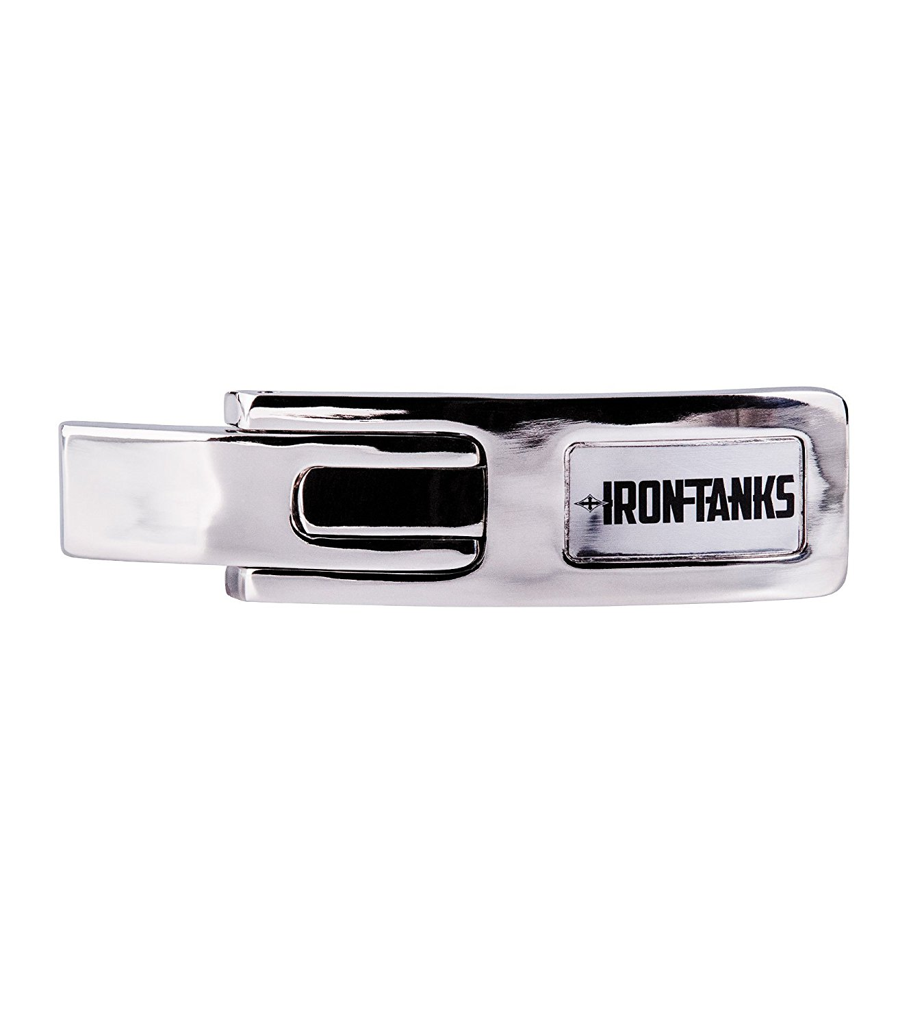 Iron Tanks Heavy Duty Tank Lever Buckle Chrome - Weightlifting Powerlifting Belt