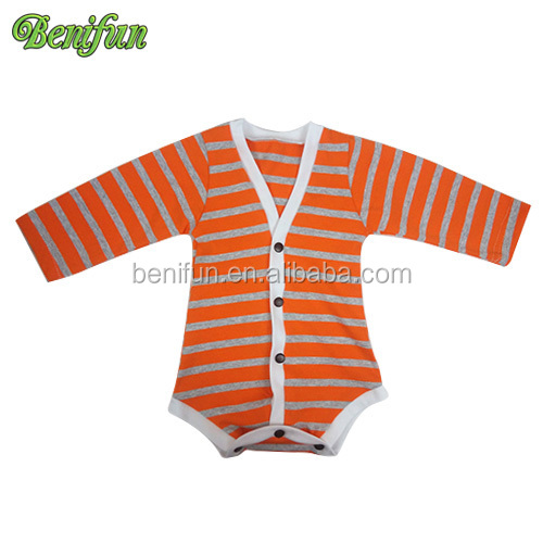 Stripes romper baby wholesale kids romper baby button bodysuit