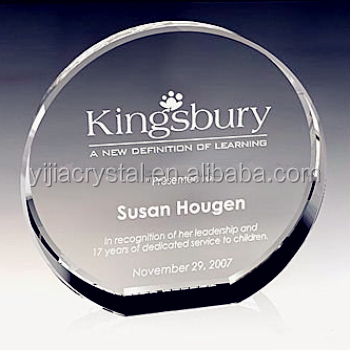 Noble Glory Circle Crystal Award,Corporate Crystal Round Trophy
