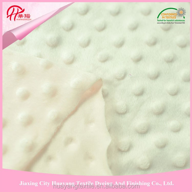 good quality and cheap price wholesale minky fabric dot use for garment