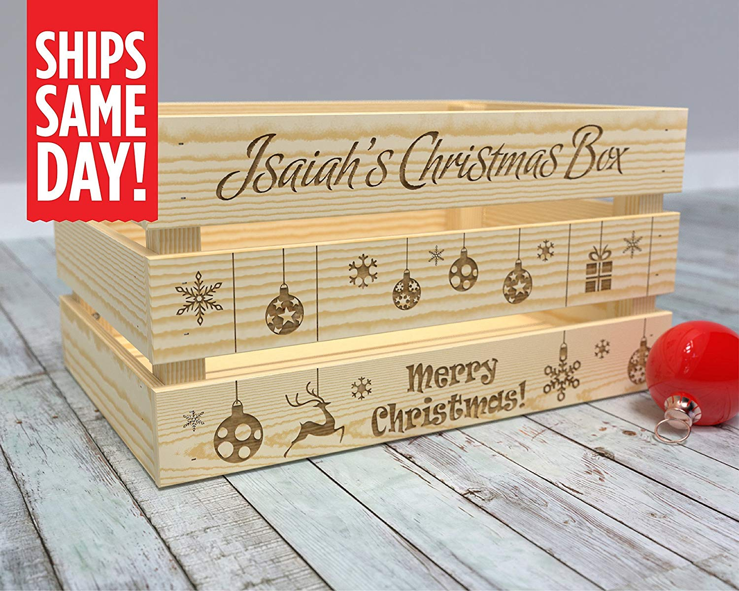 Christmas Eve Crate.Buy Christmas Eve Box Personalized Gift Box Gift Box