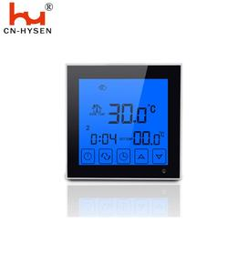 HY03WW Large Touch Screen LCD Display Room Thermostat 24V digital temperature sensor