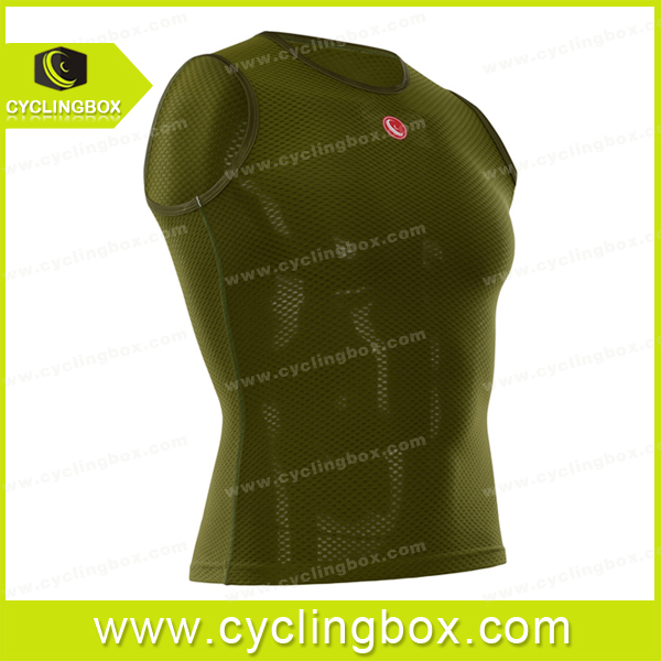 Selling cheap thermal custom 2016 men team cycling vest with mesh