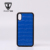 Luxury Blue Embossed Crocodile Leather Cell Phone Case For Iphone X