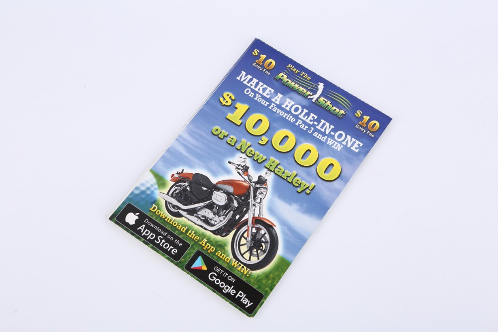 Custom Scratch off Tickets Lottery Scratch-Off Paper Card Printing