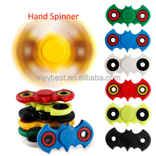 NEW Batman Fidget Hand Finger Spinner 3D Tri-Spinner ABS EDC For Autism and Rotation Time Long Anti Stress Toys