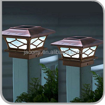 Copper plated solar fence post lights 4x4 jl 6590 buy solar copper plated solar fence post lights 4x4 jl 6590 aloadofball Image collections
