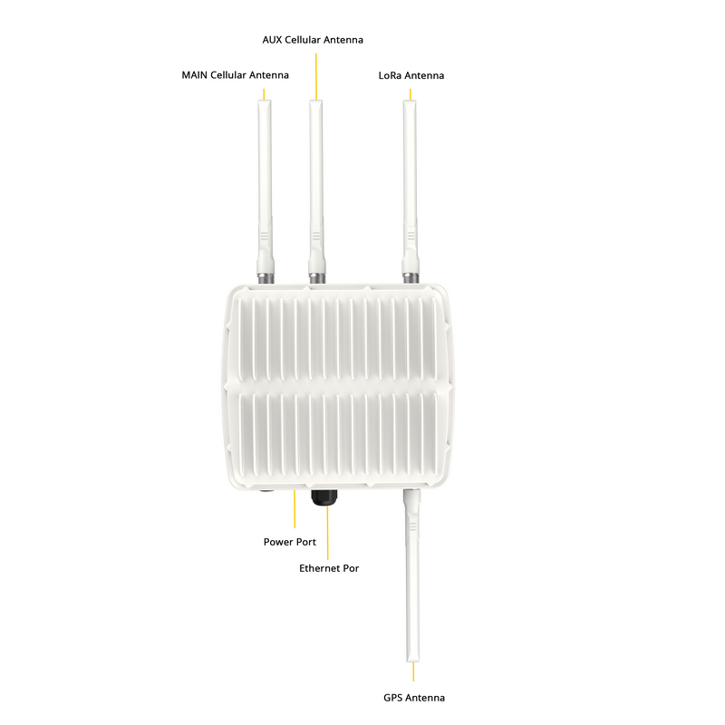 UG87 Versione Esterna Industriale LoRa Gateway 915 MHZ IoT Con WiFi LAN 3G 4G Wireless
