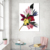 Minimalist colorful flower micro-jet printing I am living room decoration without frame wall art custom canvas print painting