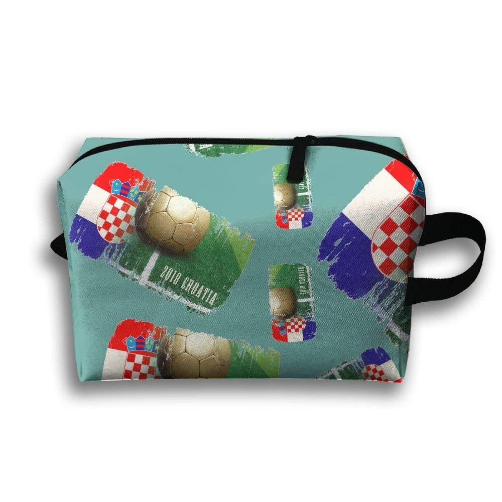 0da5ec1ec24 Get Quotations · TTRY BAG Croatia Football 2018 Travel Toiletry Bags  Toiletry Bags