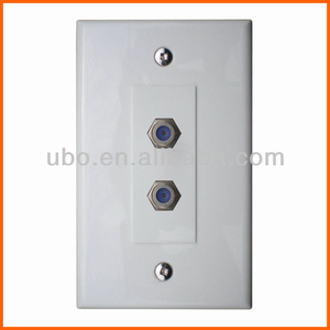 catv / tv F81 coaxial cable wall plate