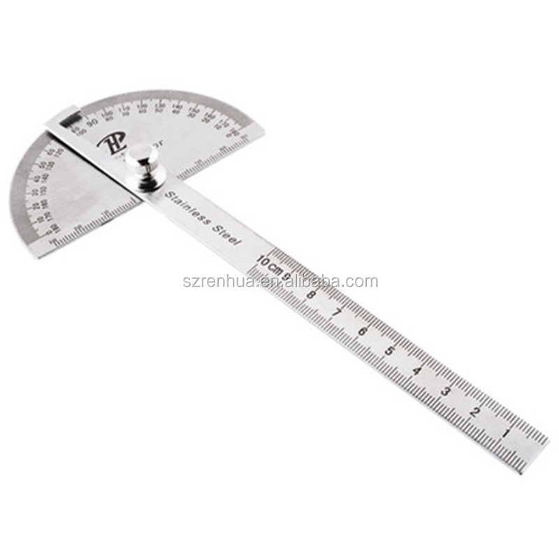 180 degree Protractor Angle Finder Arm Stainless Steel Measuring Ruler Tool