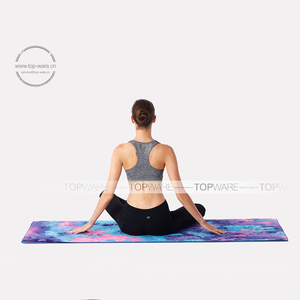 Alibaba wholesale personalized tie dye terry cloth gym yoga mat towel non slip microfiber yoga towel