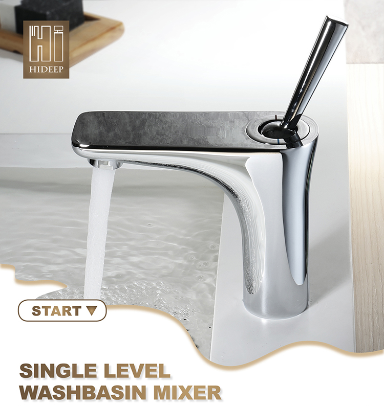 HIDEEP Full Copper Chrome Hot and Cold Washing Under Counter Basin Faucet