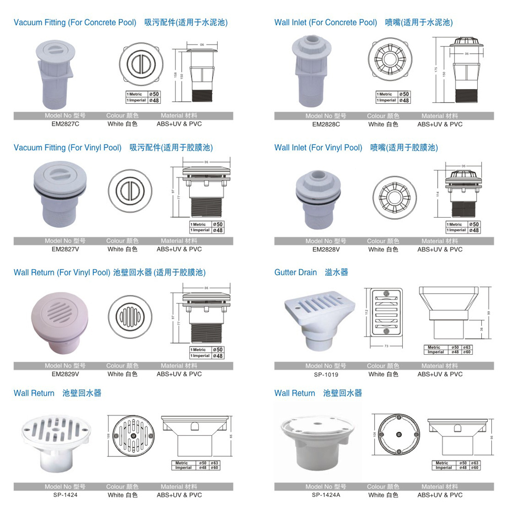 Swimming Pool Sanitary Ware Accessories Pvc Pipe And Fittings Buy Pvc Pipe And Fittings