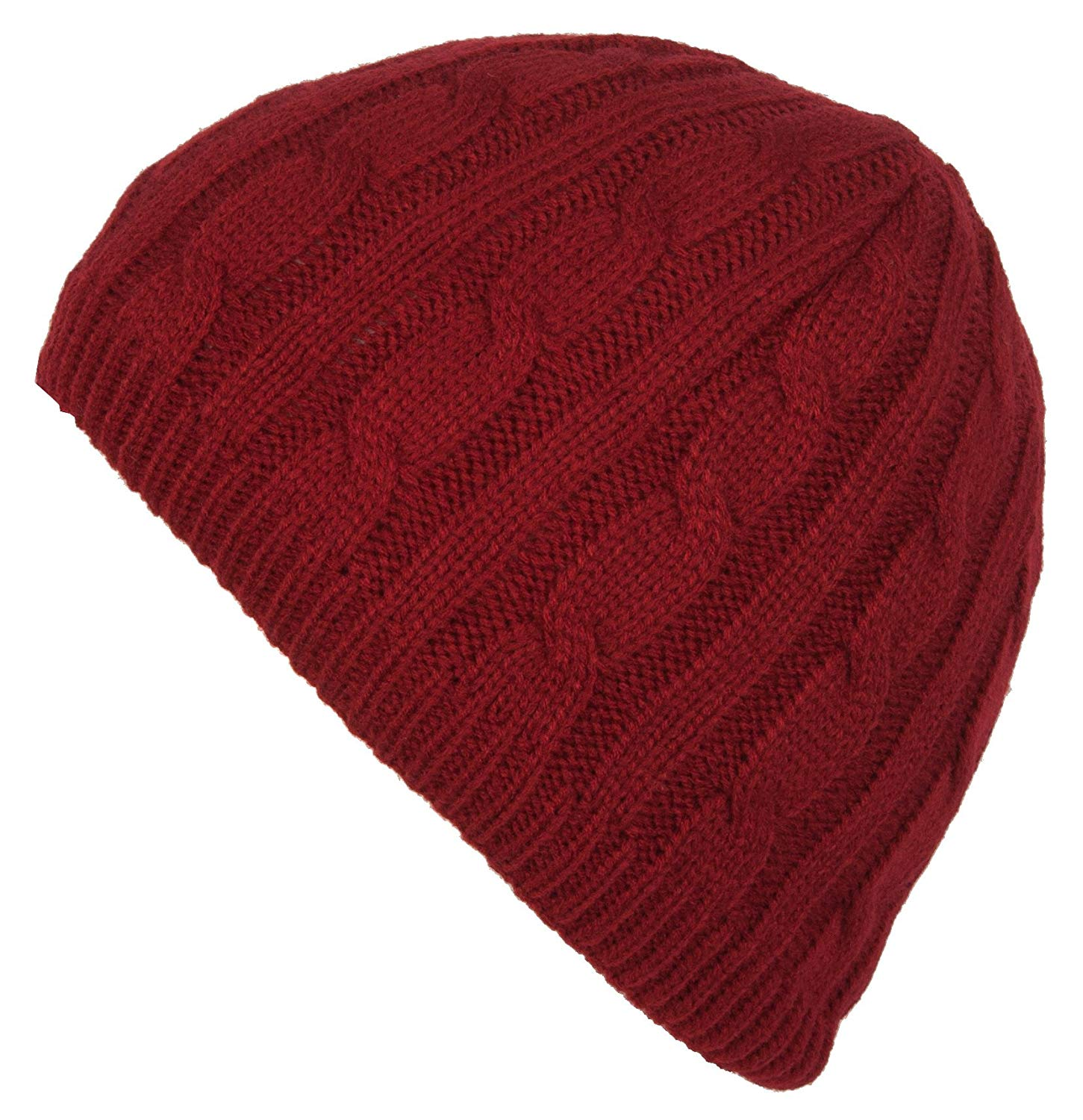 6d67a339a26 Get Quotations · DRY77 Knit Cable Pattern Beanie Hat