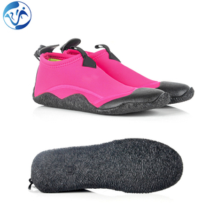 Neoprene shoes scuba warm low upper black vulcanlization diving shoes