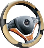 new design PU material WOVEN KNITTED VOLANTE 14 inch steering wheel covers