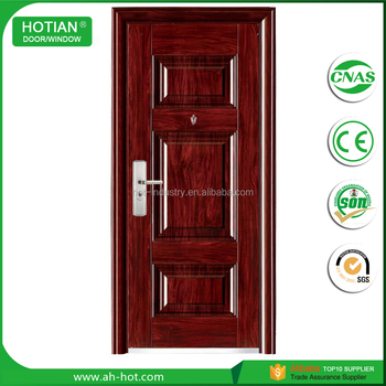 2017 Modern Steel Door Indian House Main Gate Designs With Stainless Steel  Handle And Hinges 2050