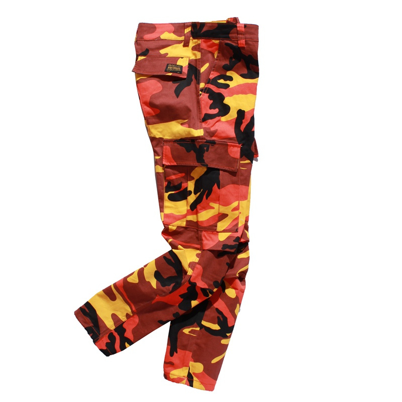 Camouflage Men s Cargo Pants Full Length 2017 Spring Multy Camo Hip Hop Pants  Men Women Streetwear Toursers Men 8 Colors ce9c92a9933