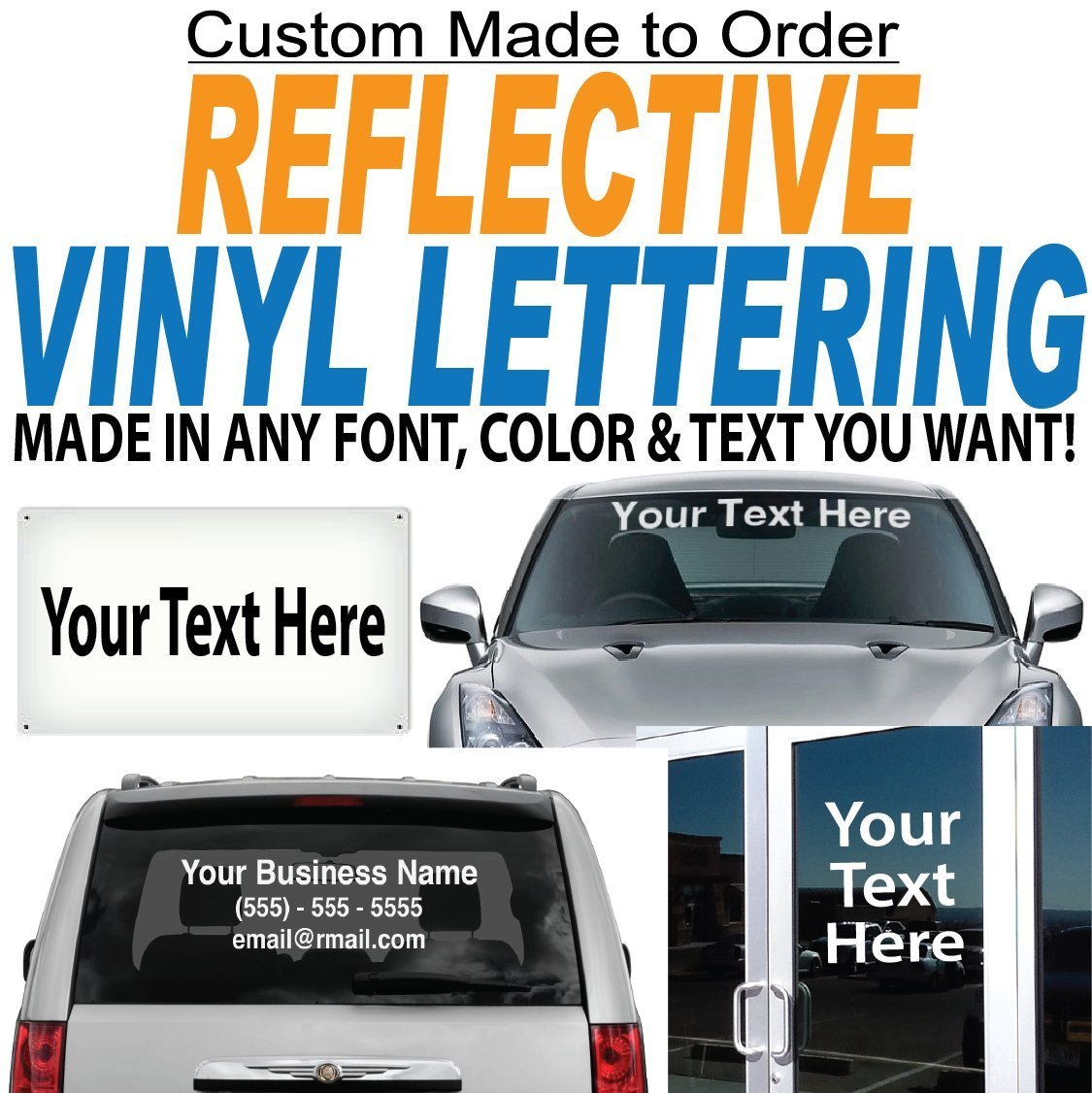 get quotations 3 high by up to 28 long reflective vinyl lettering sold per