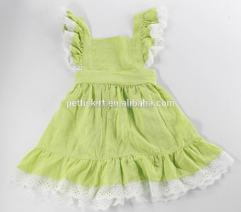 527b5debe2d6 Hot Selling Summer Fresh Kids Clothing Baby Frock Design Plain Color Wear  Pictures Girl Lace Ruffle
