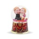 Customized cute lovers wedding favors snow globe with red heart shape