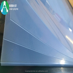 Silk screen Printing 1mm Thick Hard Plastic Transparent PVC Rigid Sheet With Two Sides Masking Film For Panel