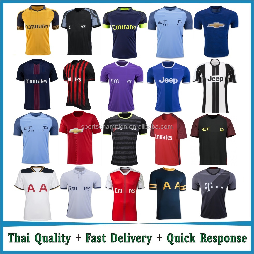 latest football jersey designs / sports jersey new model / Thai Quality Soccer Jerseys