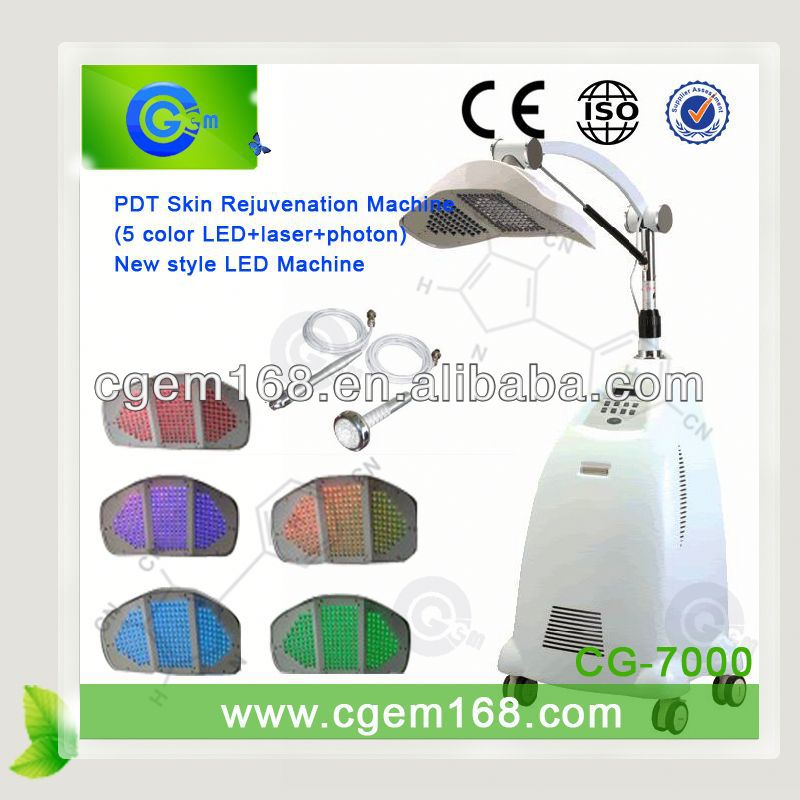 PDT skin whitening led beauty equipment / pdt therapy 5 lights led light therapy machine
