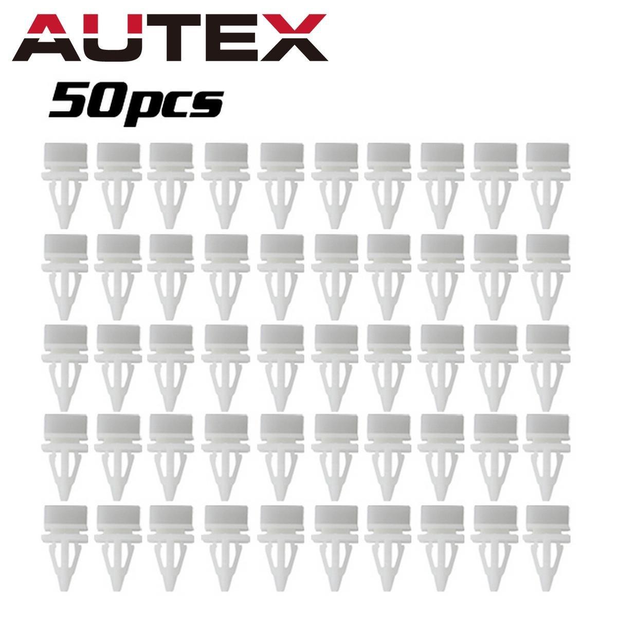 PartsSquare 50pcs Fender Liner Fastener Rivet Push Clips Retainer Fastener for Acura Honda