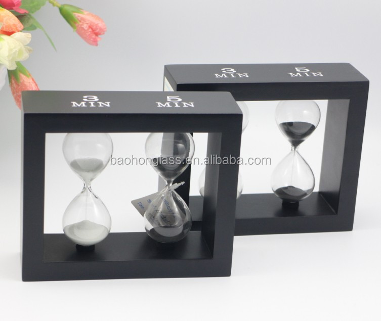 Wholesale replica watches unique home decor 2 in 1 sand clock for sale