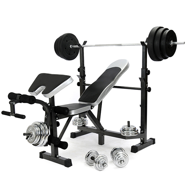Factory Direct Adjustable Folding Squat Rack With Weightlifting Bench