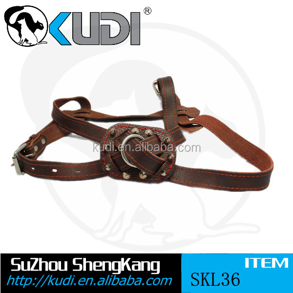 Large size best quality leather dog harness