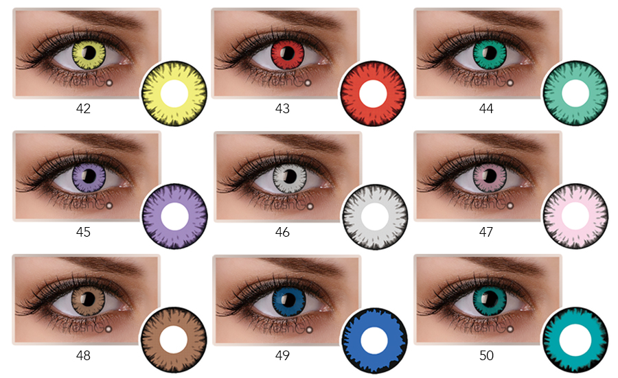 Hotselling Halloween Crazy Lens Cosmetic Color Contacts Lens ...