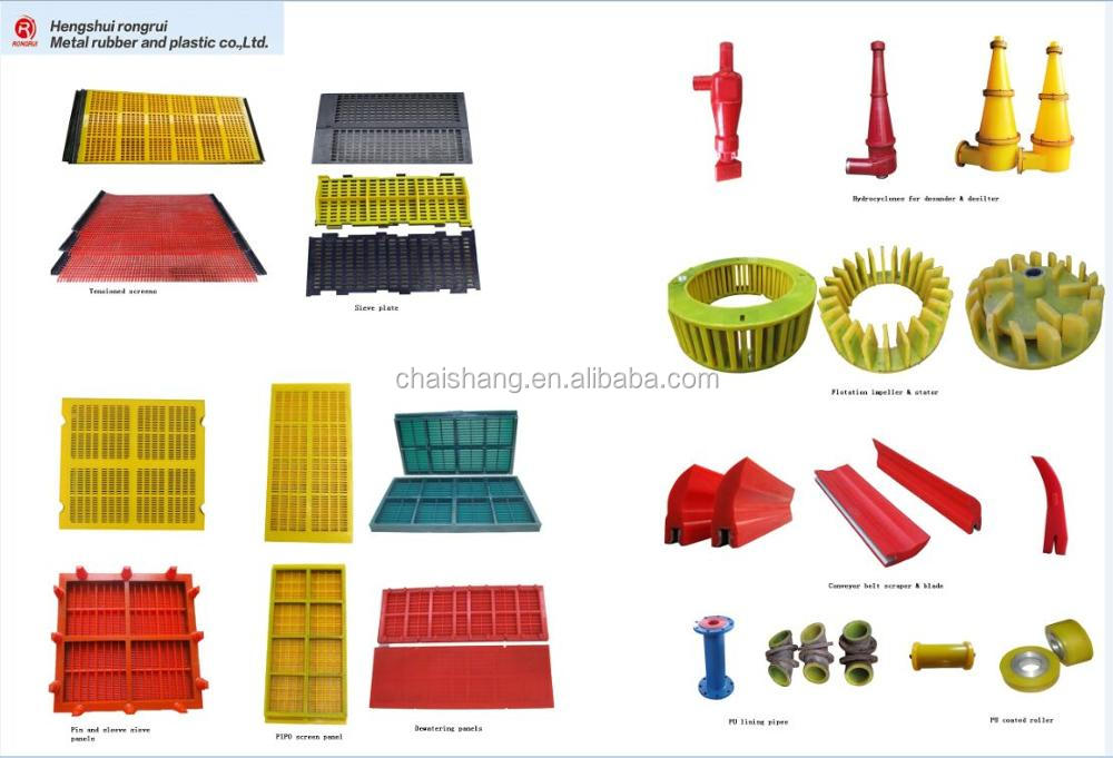 Vibrating Screen Polyurethane Sieve Plate Sand Modular Polyurethane Screen