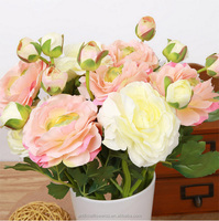 Table wedding decoration artificial flowers Artificial silk tea rose flower