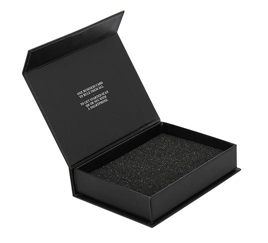 Logo Bedruckte Leer Faltbare Luxus Magnetische Geschenk Boxen