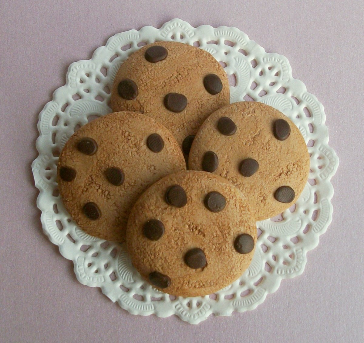Chocolate Chip Cookies Set of 4 - Perfect for 18 Inch American Girl® Dolls