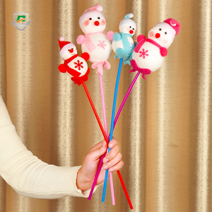 2018 new style wholesale cheap party favor kids custom christmas decorative snowman toys stick