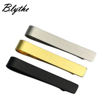 wholesale Personalized custom logo silver gold black business classic tie clip bar