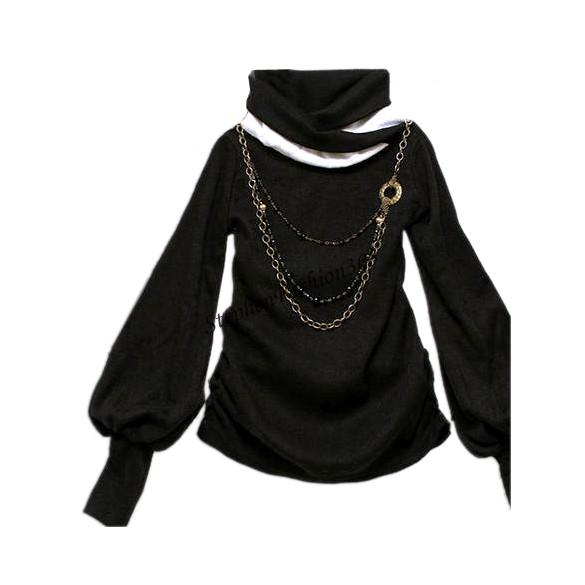 Get Quotations · 2015 New Fashion Ladies Women Turtleneck Long sleeve  Lantern Sleeve Plus size T-shirts ddf7febec