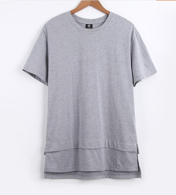 d3a6f6d288d7 New Extended Tee in Black/white/ oversized extended tee shirt top Men t  shirt