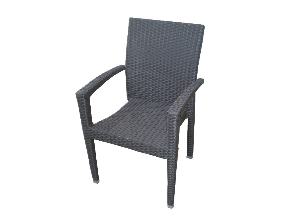 High Quality Outdoor Rattan Furniture Recycled Skid Resistant Wicker Dining Chair For Patio Leisure